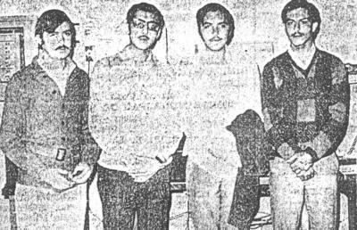 02122018 Raúl García de Alba, Enrique Mery, Enrique Canales y Salomón Juan Marcos en la década de los 70'.