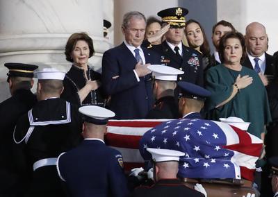 Despiden al expresidente de EU, George H.W. Bush