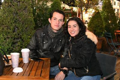 Alonso Vázquez y Chantal Ceballos.