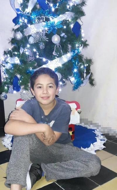 06122018 Alan Yosgart Puentes, quien recientemente cumplió 10 años de edad.
