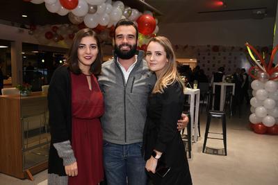 Carolina Duarte, Alejandro Ascencio y Raquel Falomir.