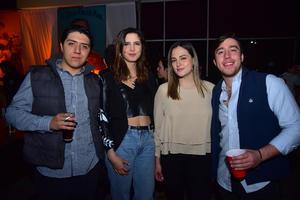 Juan Pablo, Zanya, Fer y Gustavo