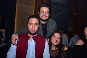 David, Axel y Andrea