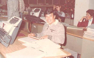 09122018 Carlos Rodríguez Macías en Banrural en la década de los ochenta.