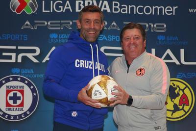 Los entrenadores Pedro Caixinha y Miguel Herrera estuvieron presentes para el Día de Medios previo al arranque de la final del Apertura 2018 de Liga MX.
