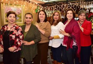 14122018 Bertha Amalia, Rocío, Marga, Edna, Marcela y Monis.