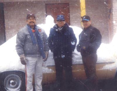 16122018 José Luis Moreno, José Vera y Carlos Rodríguez Macías el 12 de diciembre de 1997.