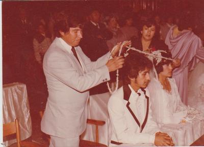 16122018 René y Raquel Torres, el día de su matrimonio, hace 37 años. Ella es originaria de Matamoros, Coahuila, radican en Socorro, Texas.