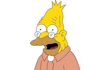Algunos de los personajes secundarios más conocidos son Abe Simpson, padre de Homero.