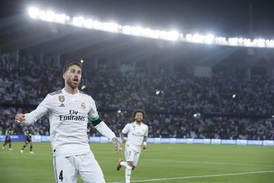 El capitán Sergio Ramos marcó también un tanto del Madrid.