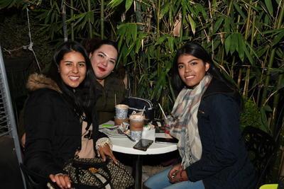 Andrea Alvarado, Cindy De Haro y María Vargas.