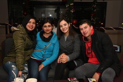 Ana Karen Sánchez, Marcela Chairez, Nereida Gutiérrez y Gustavo García.