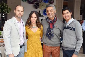 27122018 PRESENTES EN FESTEJO.  Gerardo, Sandra, Gerardo y Ángel.