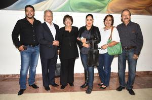 28122018 EVENTO CULTURAL.  Patricia López, Ernesto Encina, Raquel Frausto, Ambrocio López, Irma Fuentes y Mario Encina.