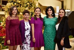 29122018 Esther Morales, Esther Vázquez, Elizabeth Morales, Ana Isabel Zarzar e Isabel Luján.