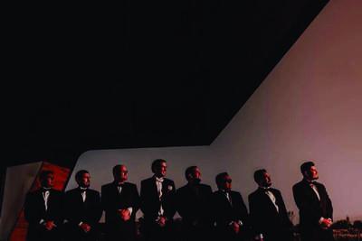 30122018 Caballeros de Honor, Emmanuel Mireles, Jorge Palacios, Daniel Moller, Eduardo Rodríguez, Aldo Martínez y Alain Quezada.