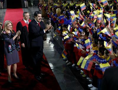 El mandatario estuvo acompañado por otros seis jefes de Estado que fueron los únicos en asistir a este acto.