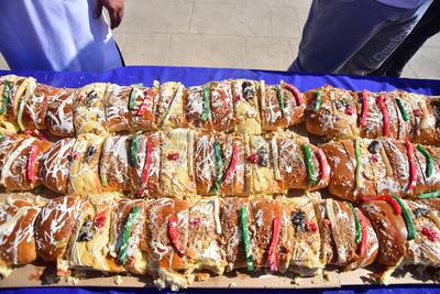 Se trata de la rosca de Reyes más grande de La Laguna.