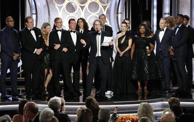 Green Book, de Peter Farrelly, se llevó el galardón a la Mejor Película de Comedia o Musical, así como los trofeos al Mejor Actor de Reparto (Mahershala Ali) y mejor guion (Nick Vallelonga, Brian Currie y el propio Farrelly).