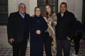 07012019 Karen Ortega, Sergio Montelongo, Francisco Covarrubias y Hna. María Esther Gamboa Saucedo.