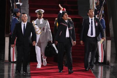 En la ceremonia de investidura estuvieron presentes los presidentes de Bolivia, Cuba, El Salvador y Nicaragua.