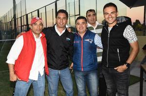 Diego, Marcos, Cristian, Fabián y Manolo