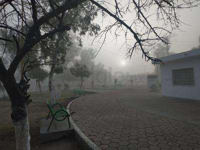 Ayer el frente frío 25 sorprendió a la Comarca Lagunera con una ligera lluvia y rachas de viento de 46 km/h. Esta mañana amanece con neblina.