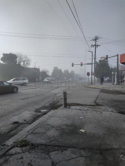Se recomendó circular con precaución ante la afectación a la visibilidad por la neblina.