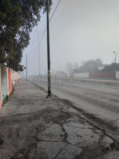 Las calles de Gómez Palacio amanecieron así por la neblina.