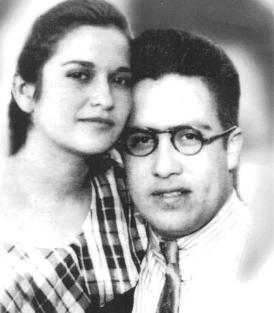Juana María Valdés Galindo y Luis Aguilar Delgado en 1939. Sus hijos, Luis Jesús, Enrique, Alfredo y Julio.