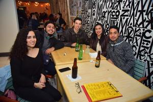14012019 EN AMENA VELADA.  Salma, Manuel, David, Mariangela y Edgar.
