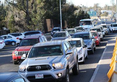 El tráfico de la vialidad se vio afectado.