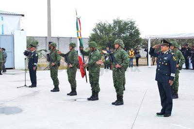 El general brigadier DEM Enrique Hernández Cisneros llega en relevo de Jesús Arevalo.