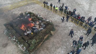 Riquelme refirió que en lo que va de su administración, el valor comercial de las destrucciones y quemas, es de 1 mil 800 millones de pesos .