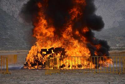 Este viernes se realizó la primera quema de drogas y otros enervantes.