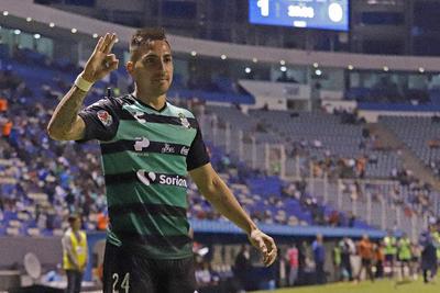 El ofensivo abrió su cuenta de goles con Santos Laguna.