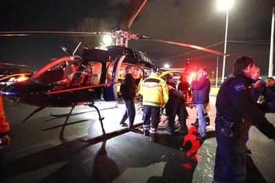Labores de rescate en la zona de la tragedia.