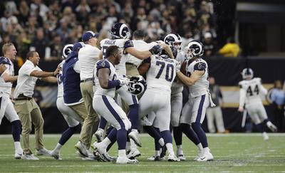 Dado que el viaje de los Rams al Super Bowl LIII estará marcado por otro arbitraje polémico que al final fue el que decidió al campeón de la NFC después que no quisieron señalar un choque ilegal a falta de 1:41 minuto del tiempo reglamentario que devolvió el balón a los nuevos campeones de la NFC, tras anotar los Saints un gol de campo y poner el parcial de 23-20.