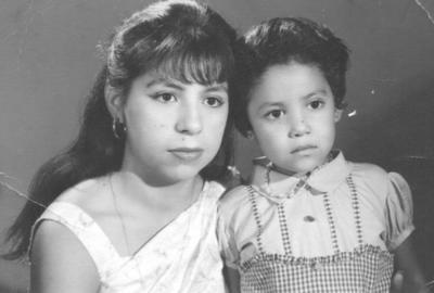 Conchita Ramírez y Columba Rodríguez en 1965.
