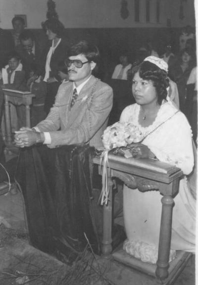 Miguel Rodríguez Herrera y María Olga Saucedo Jímenez el 13 de enero de 1979.