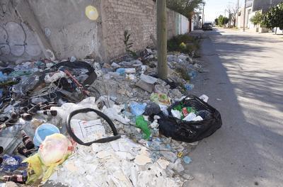 Hay tiraderos de basura que incluso invaden terrenos privados .