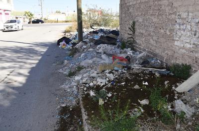 Basureros urbanos se han formado en colonias y fraccionamientos de Torreón.