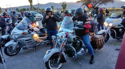 La actividad comprendió la procesión del biker caído, desfile por las principales calles y conciertos de rock, entre otros eventos.