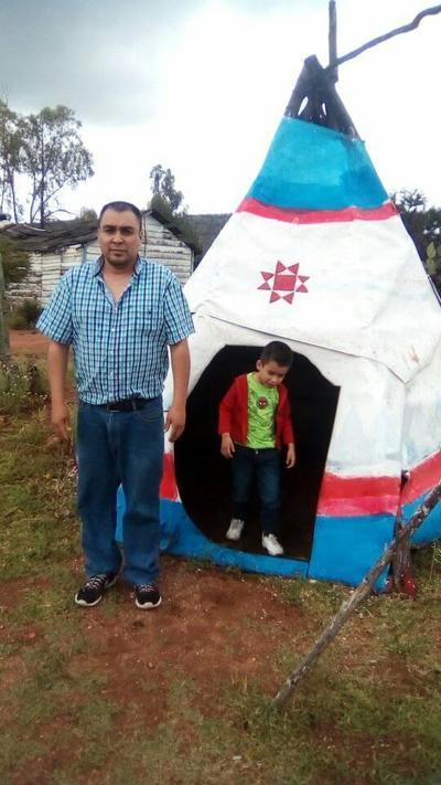 Francisco y su hijo, Paquito.