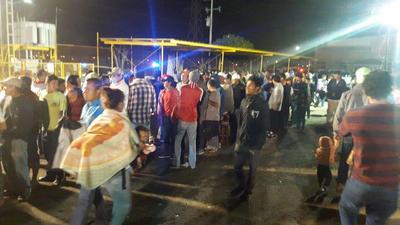 Momento de la llegada de los migrantes a la ciudad de Piedras Negras.