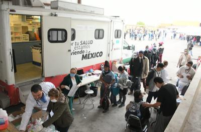 Autoridades de salud verificaron las condiciones de los migrantes.