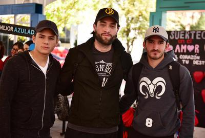 Hugo, Siro y Eduardo.