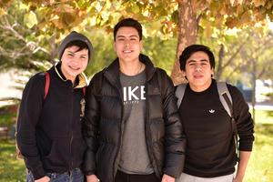 Alfredo, Nahim y Andres