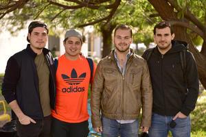 Jorge, Fernando, Diego y Rafael