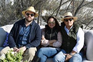 Fernando Veyan, Maru Villarreal y Tito Porragas